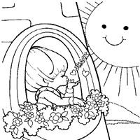 rainbow brite sun coloring page