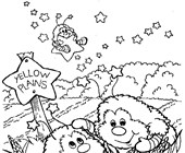 rainbow brite yellow plains coloring page