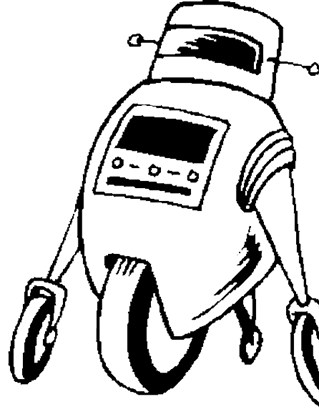 robot on wheels coloring page