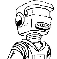 robot standing coloring page