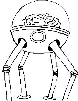 robot with four legs coloring page