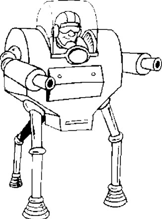 Robots Coloring Page Robot With Guns All Kids Network