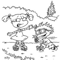 chuckie and angelica coloring page