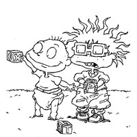 rugrats chuckie and tommy coloring page
