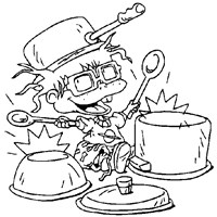 rugrats chuckie coloring page