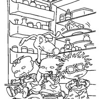 rugrats eating coloring page