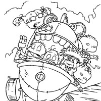rugrats falling coloring page