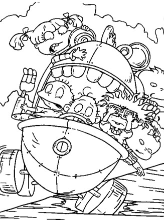 Rugrats Coloring Page - rugrats falling | All Kids Network
