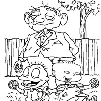rugrats money coloring page