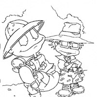 rugrats outside coloring page