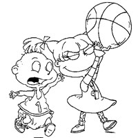 rugrats coloring pages print rugrats pictures to color all kids network - Rugrats Characters Coloring Pages