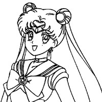 sailormoon 6a coloring page