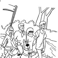 scooby doo and friends coloring page