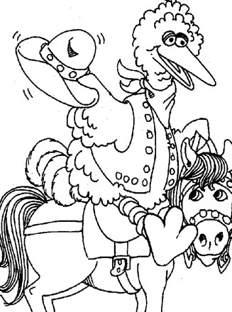 Free Coloring Pages and Coloring Books for Kids: Sesame street Big ...   440x327