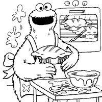 sesame street cookie monster coloring page