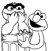 sesame street oscar coloring page