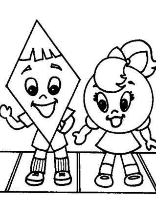 diamond and circle coloring page