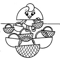 half circle shape coloring page