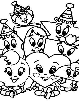 lots of shapes coloring coloring page