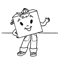 shape square coloring page