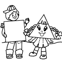 square and triangle coloring page