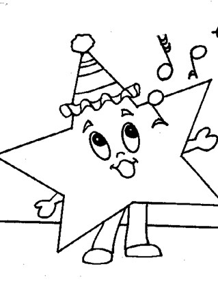 star singing coloring page