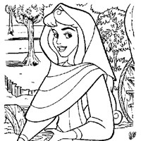 aurora as briar rose coloring page
