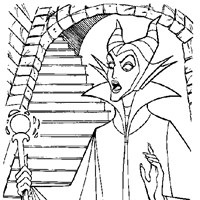maleficent sleeping beauty coloring page