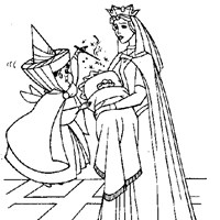 merryweather blessing baby coloring page