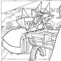 merryweather flora fauna coloring page