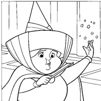 merryweather coloring page