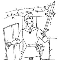 phillip magic sword coloring page