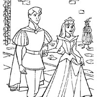 prince charming and sleeping beauty coloring page