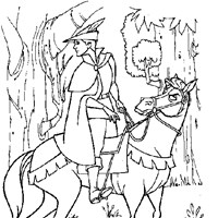 prince phillip on horse coloring page