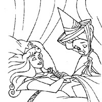 sleeping beauty asleep coloring page