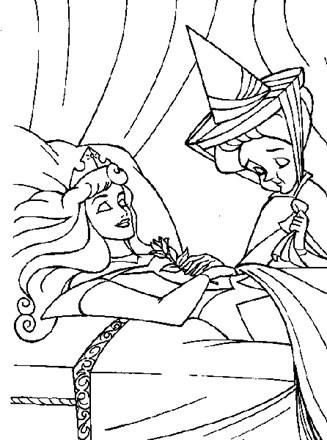 Sleeping Beauty Coloring Page Sleeping Beauty Asleep All Kids Network