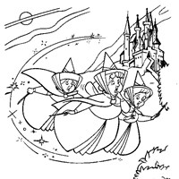 sleeping beauty good fairies coloring page
