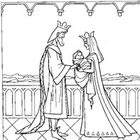 sleeping beauty king and queen coloring page