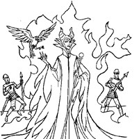 sleeping beauty maleficent coloring page