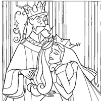 sleeping beauty parents coloring page