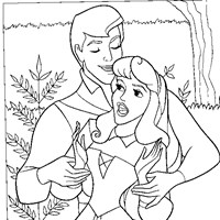 sleeping beauty prince charming coloring page