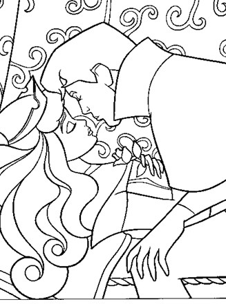 Sleeping Beauty Coloring Page The