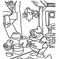 happy cleaning coloring page