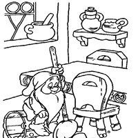 sleepy cleaning coloring page