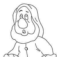 sneezy dwarf coloring page