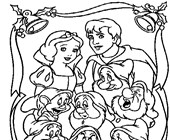 snow white and the seven dwarves coloring page