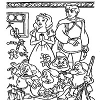 snow white christmas coloring page