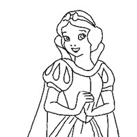 snow white princess coloring page