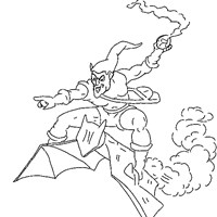 spiderman green goblin coloring page
