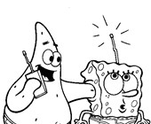 sponge bob and patrick radio coloring page